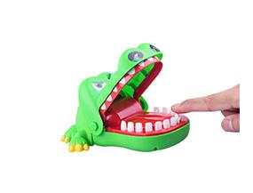 Desktop Tricky Toy Crocodile Finger Bite Plastic Fancy Toy