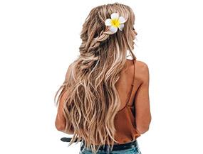 Floral Hair Clip 3D Flower Ombre White Summer Beach Hair Accessory