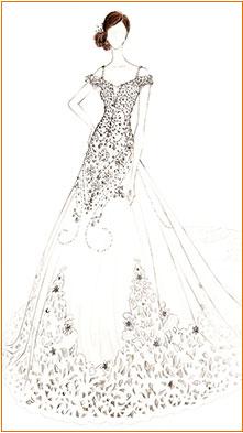 Vestido De Noiva Desenha Personalizado Vestido De Casamento